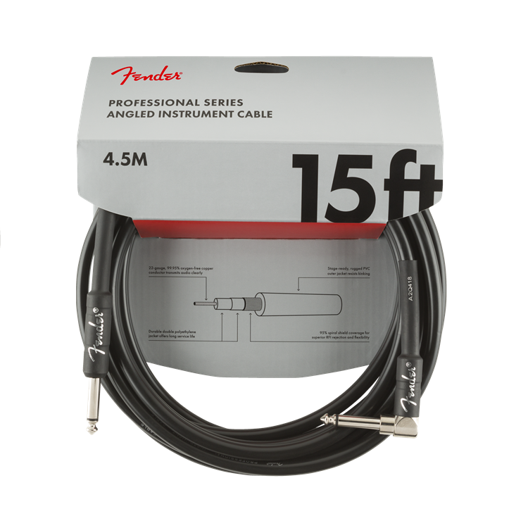 Fender(フェンダー) ケーブル Professional Series Instrument Cable Straight-Angle 10' Blackと似た商品1